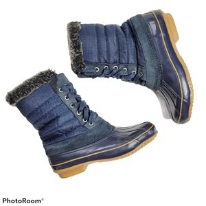 Khombu Snow Rain Faux Fur Boots 8